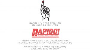 Rapid HIV Test Results - using a finger prick test - are available in just 20 minutes